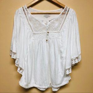 RXB white boho top